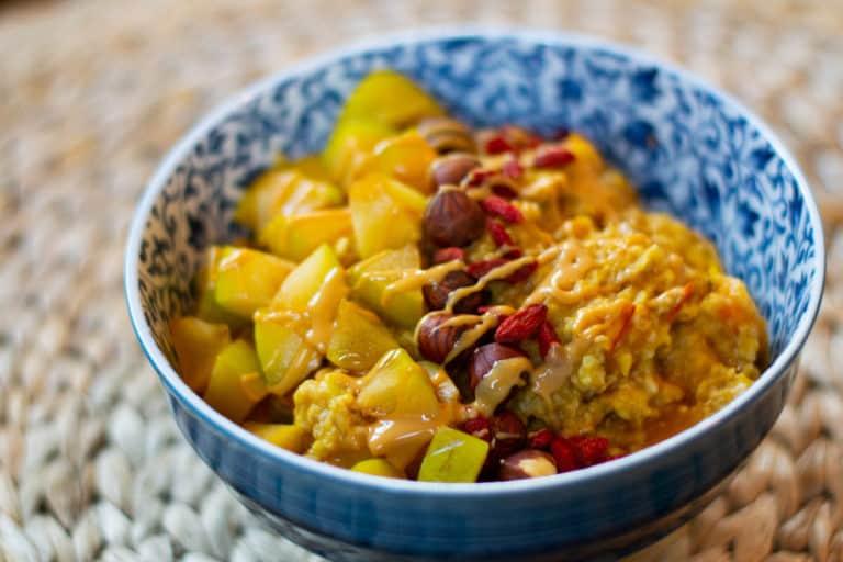 Herbstlicher Kürbis-Porridge